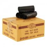18 LT BLACK BIN LINERS - CTN X 1000 IN ROLLS