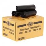 36LT BLACK BIN LINERS - CTN X 1000 IN ROLLS