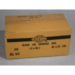 54LT BLACK BIN LINERS - CTN X 250 IN FLATPACK