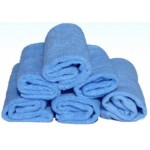 "PACK OF 6 STANDARD-GRADE ""MILLENTEX"" MICROFIBRE CLOTHS - BLUE"
