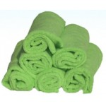 "PACK OF 6 STANDARD-GRADE ""MILLENTEX"" MICROFIBRE CLOTHS - GREEN"