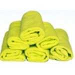 "PACK OF 6 STANDARD-GRADE ""MILLENTEX"" MICROFIBRE CLOTHS - YELLOW"